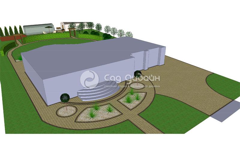Проект ландшафтного дизайна для дома в поселке Заозерье