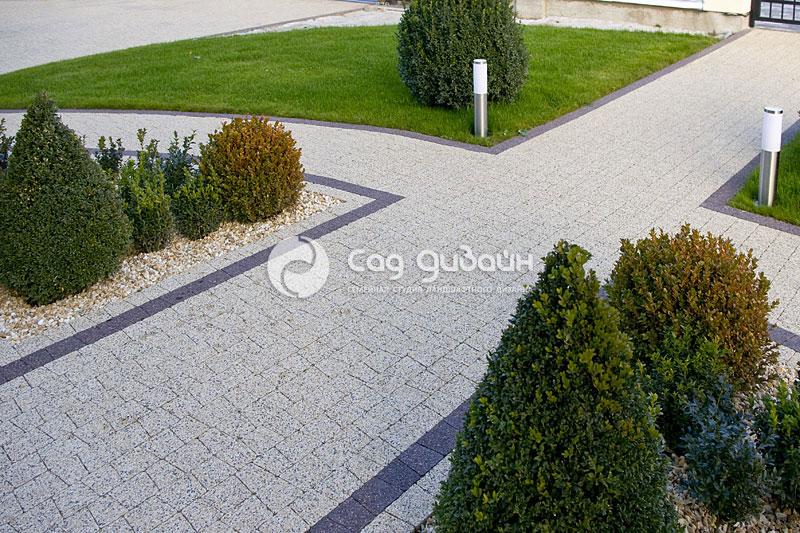 Выполненная работа - укладка тротуарной плитки