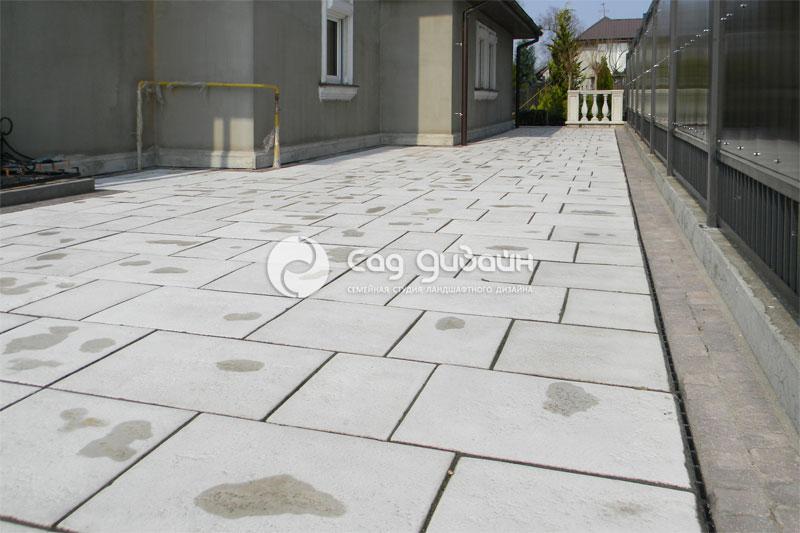 Варианты мощения тротуарной плитки фото