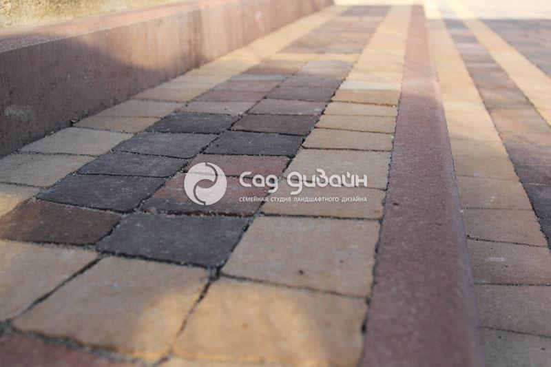 Проект мощения участка тротуарной плиткой