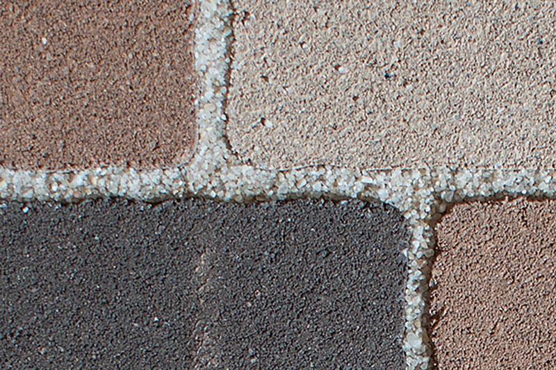 Результат фугования тротуарной плитки