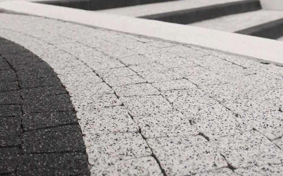 Технология  производства тротуарной плитки мытый бетон