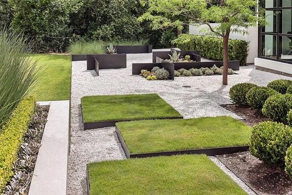 Оформление сада в стиле минимализм